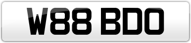 Plate image for registration plate W88BDO