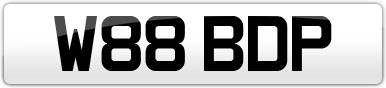 Plate image for registration plate W88BDP
