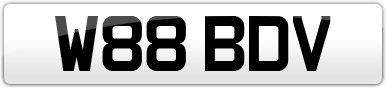 Plate image for registration plate W88BDV