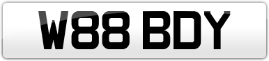 Plate image for registration plate W88BDY