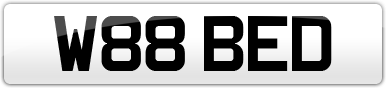 Plate image for registration plate W88BED