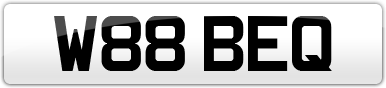 Plate image for registration plate W88BEQ