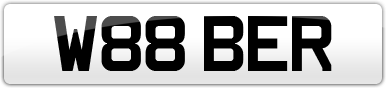 Plate image for registration plate W88BER