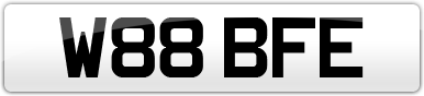 Plate image for registration plate W88BFE