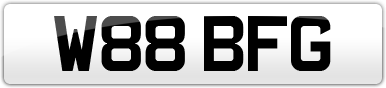 Plate image for registration plate W88BFG