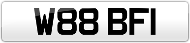Plate image for registration plate W88BFI