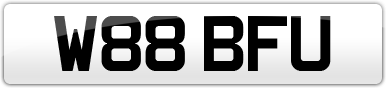 Plate image for registration plate W88BFU