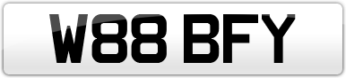 Plate image for registration plate W88BFY