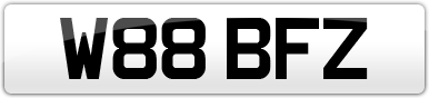 Plate image for registration plate W88BFZ