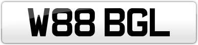 Plate image for registration plate W88BGL