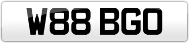 Plate image for registration plate W88BGO