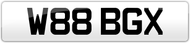 Plate image for registration plate W88BGX