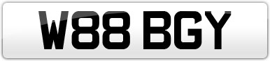 Plate image for registration plate W88BGY