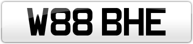 Plate image for registration plate W88BHE