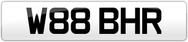 Plate image for registration plate W88BHR