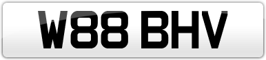 Plate image for registration plate W88BHV