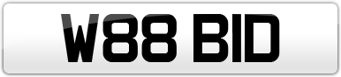 Plate image for registration plate W88BID