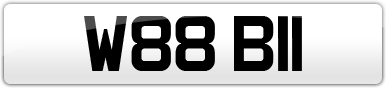 Plate image for registration plate W88BII