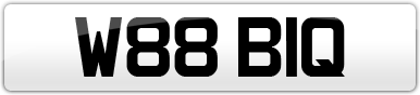 Plate image for registration plate W88BIQ