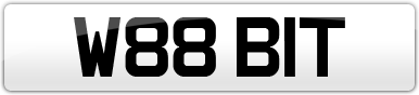 Plate image for registration plate W88BIT