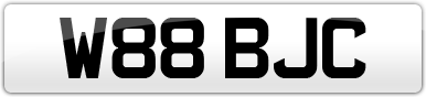 Plate image for registration plate W88BJC