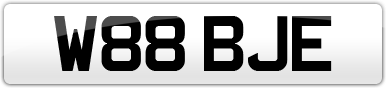 Plate image for registration plate W88BJE