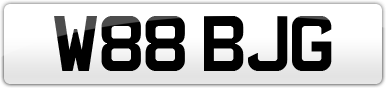 Plate image for registration plate W88BJG