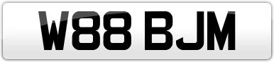 Plate image for registration plate W88BJM