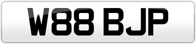 Plate image for registration plate W88BJP