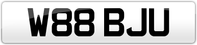 Plate image for registration plate W88BJU