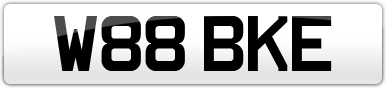Plate image for registration plate W88BKE