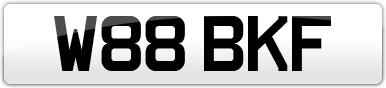 Plate image for registration plate W88BKF