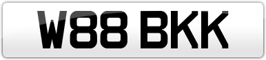 Plate image for registration plate W88BKK