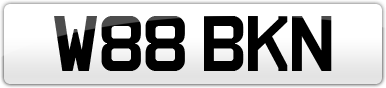 Plate image for registration plate W88BKN