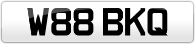 Plate image for registration plate W88BKQ