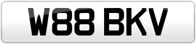 Plate image for registration plate W88BKV