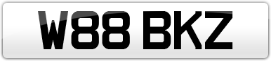 Plate image for registration plate W88BKZ
