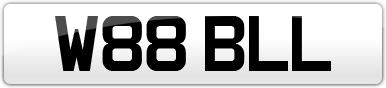 Plate image for registration plate W88BLL