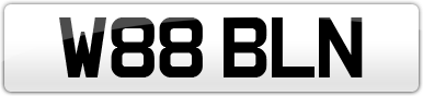 Plate image for registration plate W88BLN