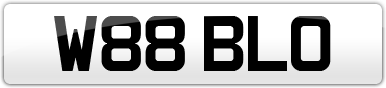 Plate image for registration plate W88BLO