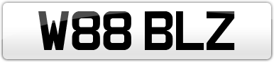 Plate image for registration plate W88BLZ