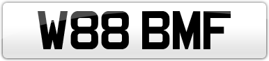 Plate image for registration plate W88BMF