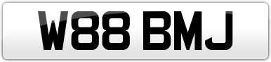 Plate image for registration plate W88BMJ