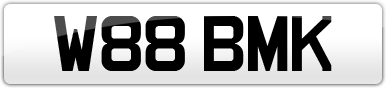 Plate image for registration plate W88BMK
