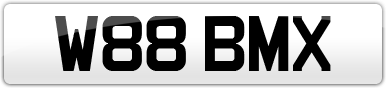 Plate image for registration plate W88BMX