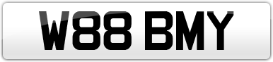 Plate image for registration plate W88BMY