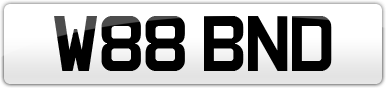 Plate image for registration plate W88BND
