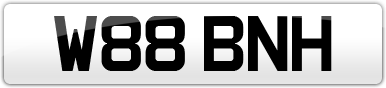 Plate image for registration plate W88BNH
