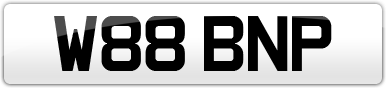 Plate image for registration plate W88BNP