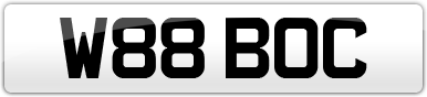 Plate image for registration plate W88BOC
